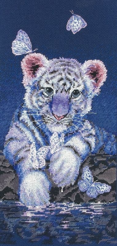 counted cross stitch baby