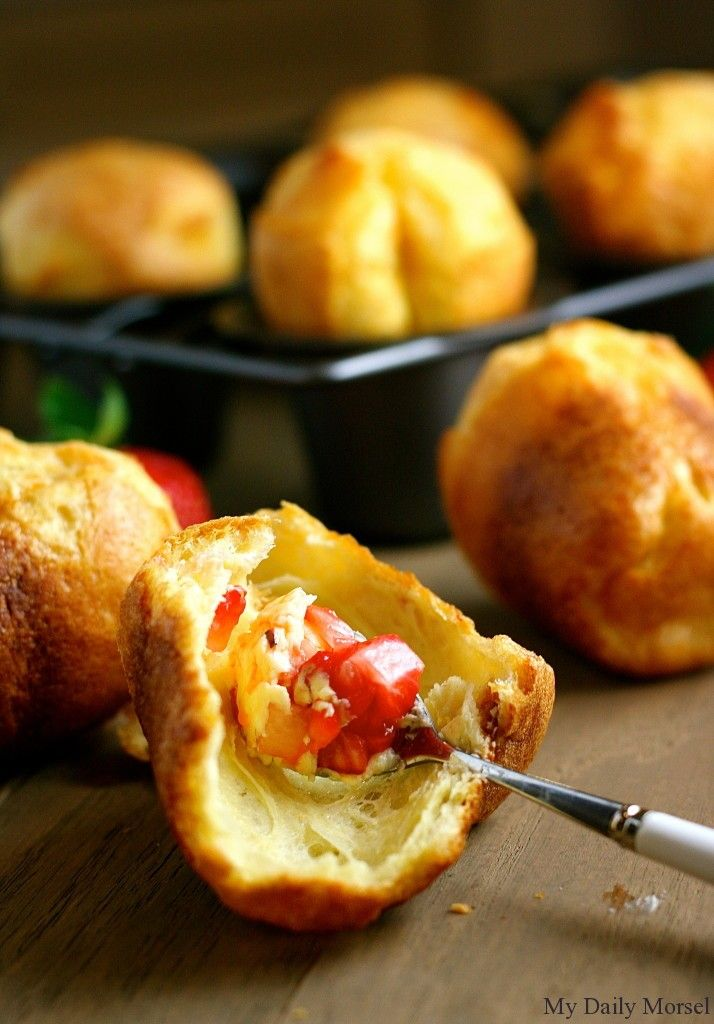 Popovers with Strawberry Butter | Food that makes me hungry..... | P ...