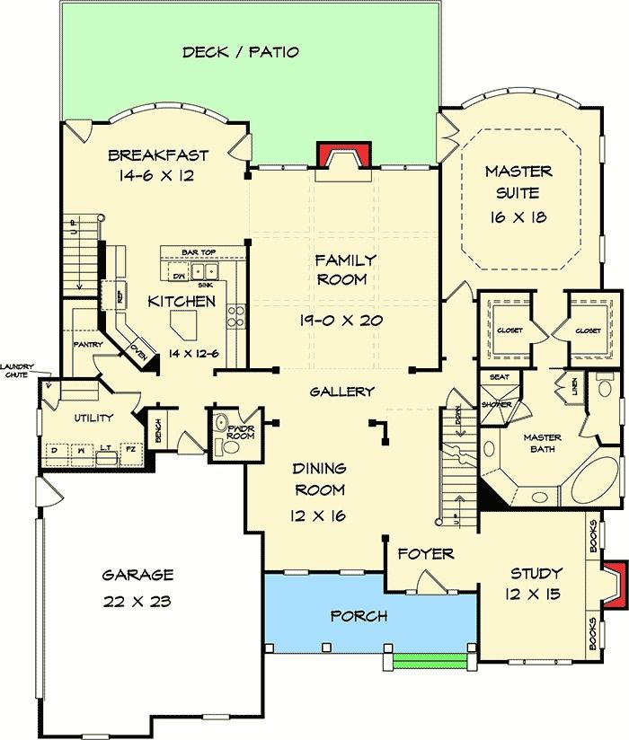 85 best house plans images on pinterest cottage floor for Bow house plans