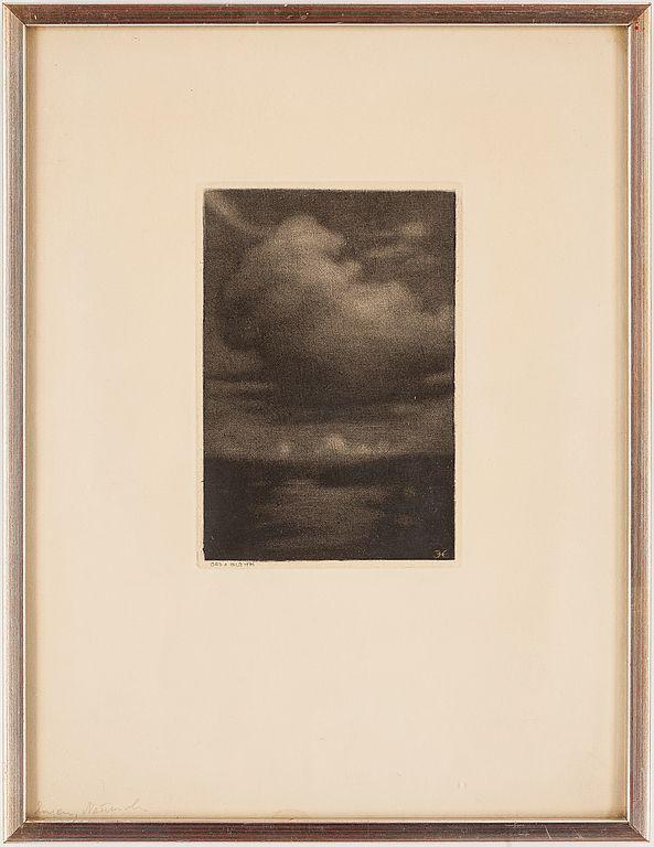 PRINS EUGEN, akvatint. Signerad med monogram i trycket. Ord och Bild 1936.