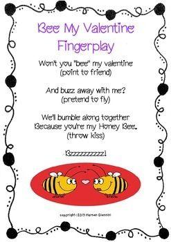valentine rymes and fingerplays mini lessonliteracy center - Preschool Valentine Songs
