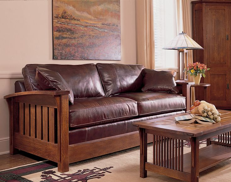 The Stickley Mission Collection Orchard Street Sleep Sofa