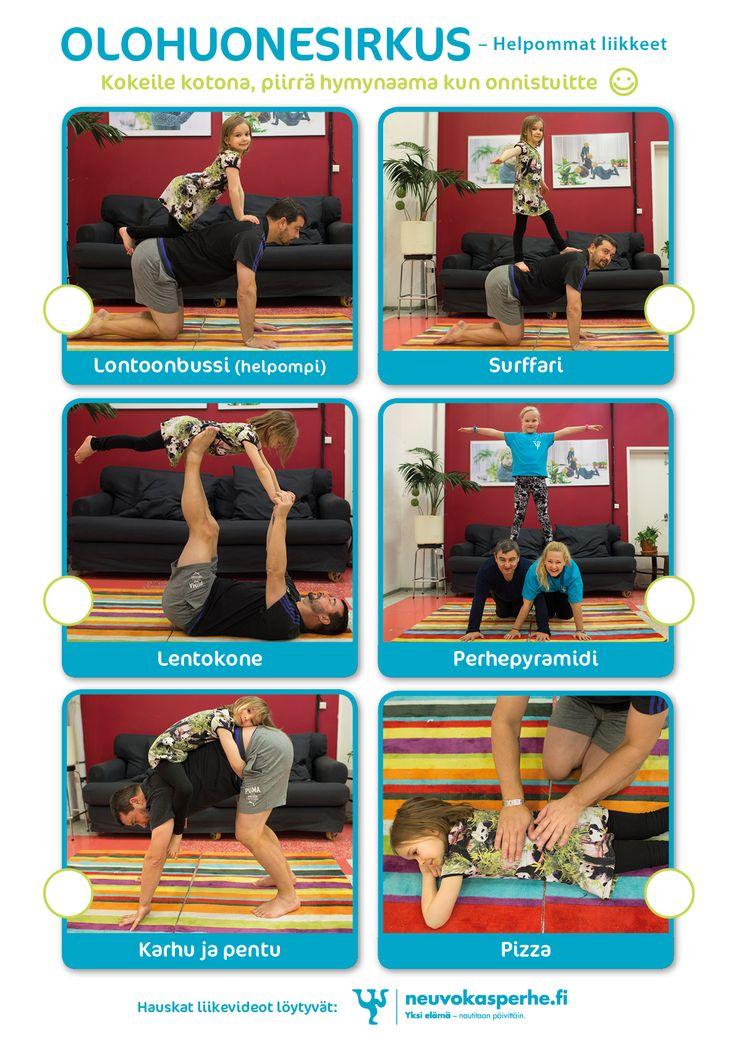 Olohuonesirkus -iloa ja liikettä lapsen kanssa kotona | Neuvokas perhe
