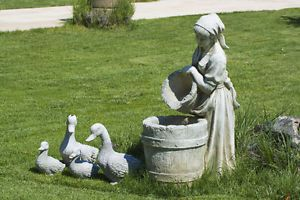 How to Paint Concrete Garden Statues / eBay