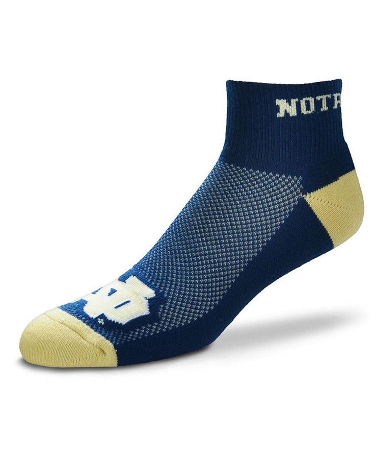 For Bare Feet Notre Dame Fighting Irish The Cuff Ankle Socks