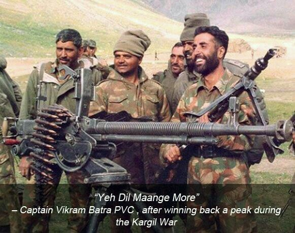 Ye Dil Mange More Army Quotes Kargil War Indian Army Quotes