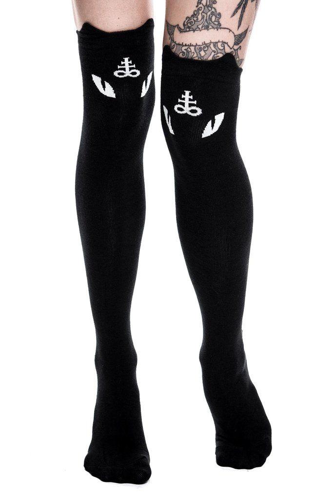 """KILLSTAR """"Purr Evil"""" long socks - OS (SOLD)"""