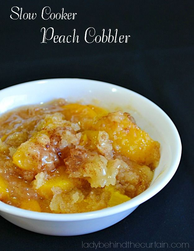 Company coming and you don't have time to bake, clean the house, fix dinner and run the kids around? Make this easy and delicious Slow Cooker Peach Cobbler