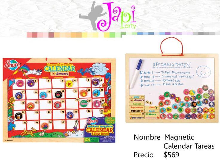 Los niños pueden participar y aprender a ser responsables con este gran calendario magnético y tabla de tareas magnética superficie de borrado en seco del calendario permite a los niños y padres de familia para llenar el mes con actividades y tareas