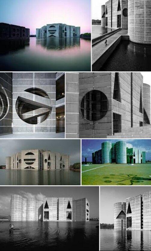 Edif. Asambleas  Arquitecto:Loui I. Kahn Construido en:1964-1982 Altura:50 m Ubicación:Dakha, Bangladesh
