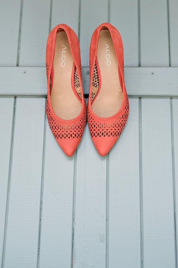 coral wedding shoes // eco-friendly wedding // Stella Uys