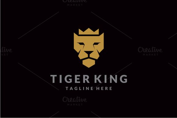 Tiger King Logo by yopie on @creativemarket