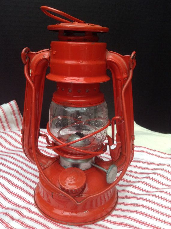 Vintage Winged Wheel Red Lantern No 350 Made in by FlyingFigs, $14.65Wings Wheels, Outdoor Living, Wheels Red, Vintage Wings, Red Lanterns, Oil Lanterns