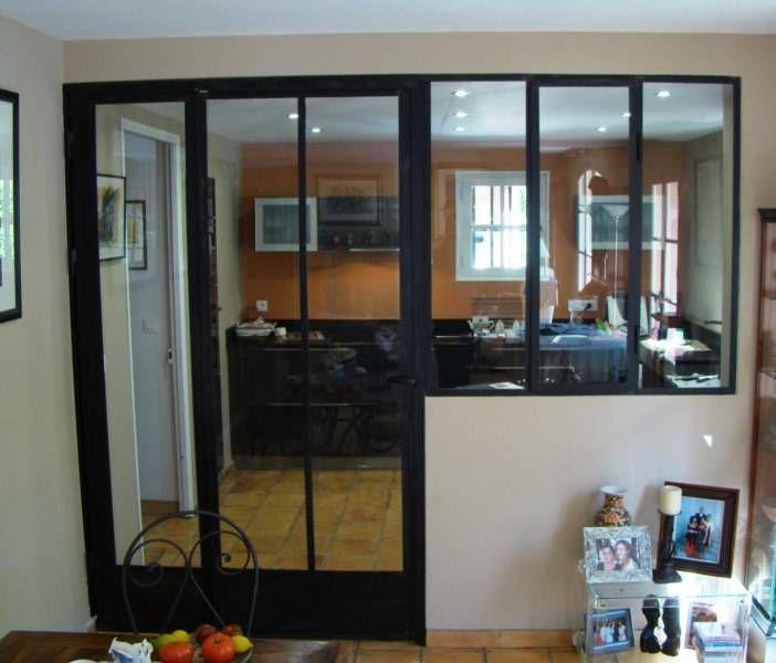 separation cloison en fer forg avec 1 porte et 1 fenetre idee deco home pinterest. Black Bedroom Furniture Sets. Home Design Ideas