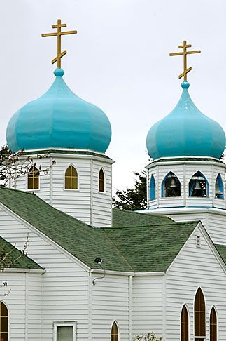 Holy Resurrection Russian Orthodox - Kodiak, Alaska  This is the church my parents were married in and the church I was baptized in.......