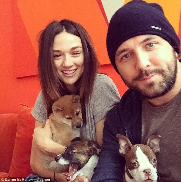 'Love this b****! #AndMaLady!'The dimpled brunette - who previously dated Teen Wolf's Daniel Sharman - has been romancing The Voice Australia host Darren McMullen since late 2013