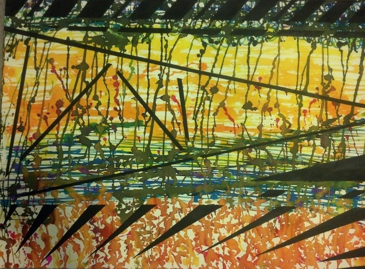 """""""Autumn Reflections"""" multi media watercolor and acrylics"""