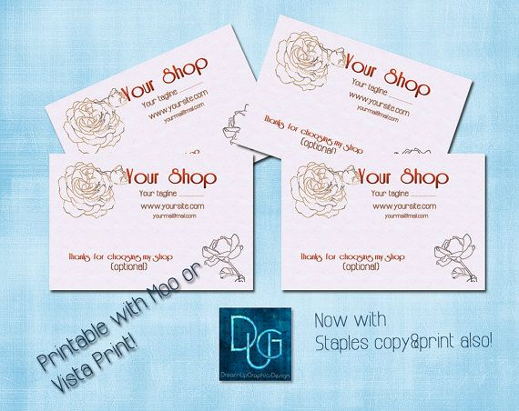Printable Business Card    Romantic Templates   by DreamUpGraphic, €7.40