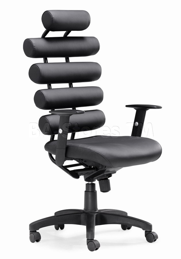 Beautiful Unico Black Office Chair By Zuo Modern Provides The Ultimate In Lumbar  Support. The Unico Has Firm Leatherette Cushion Rolls For The Back And A Plush  Seat.