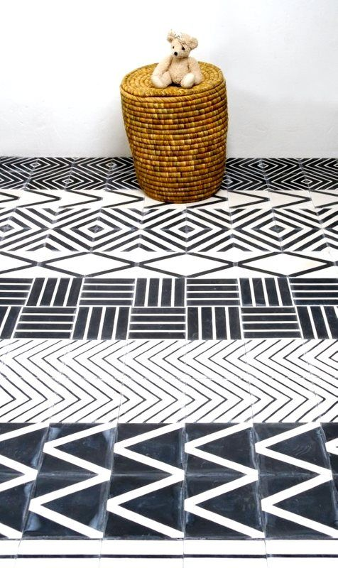 Kelim floor tile by Swedish designer Mats Theselius