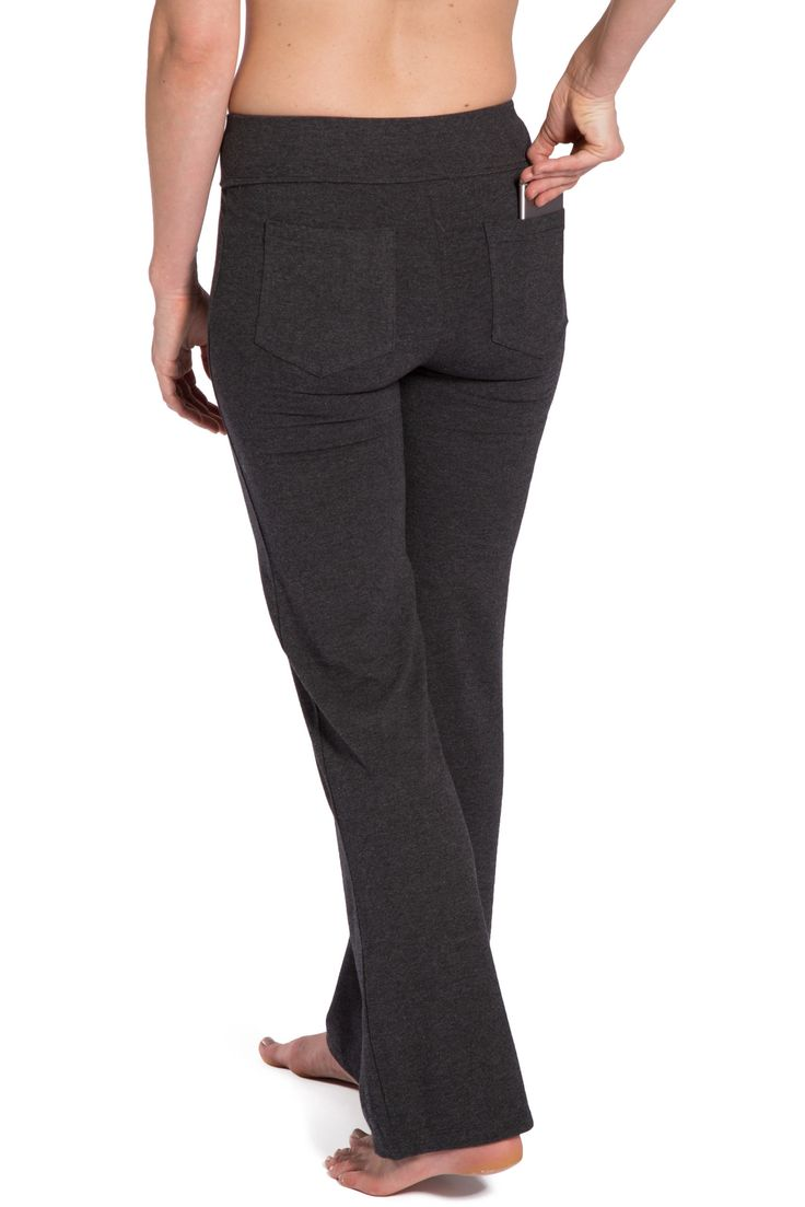 Women's Ecofabric Bootleg Yoga Pants with Pockets
