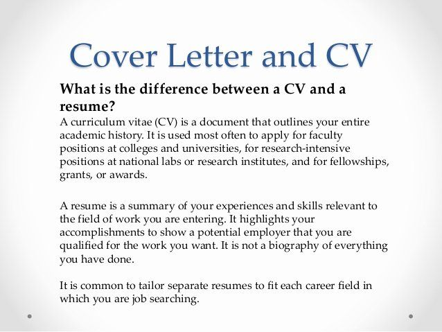 Difference Between Cv And Cover Letter from i.pinimg.com