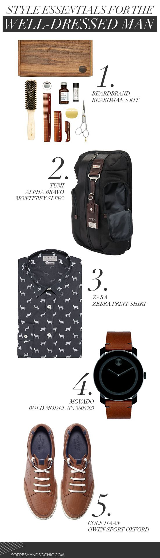 So Fresh & So Chic // Style Essentials for the Well-Dressed Man #sofreshandsochic www.sofreshandsochic.com #mensstyle