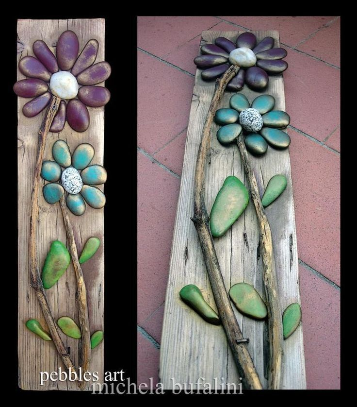 Wonder if the kids could make this? Really cute!GA79055 stone flowers 9