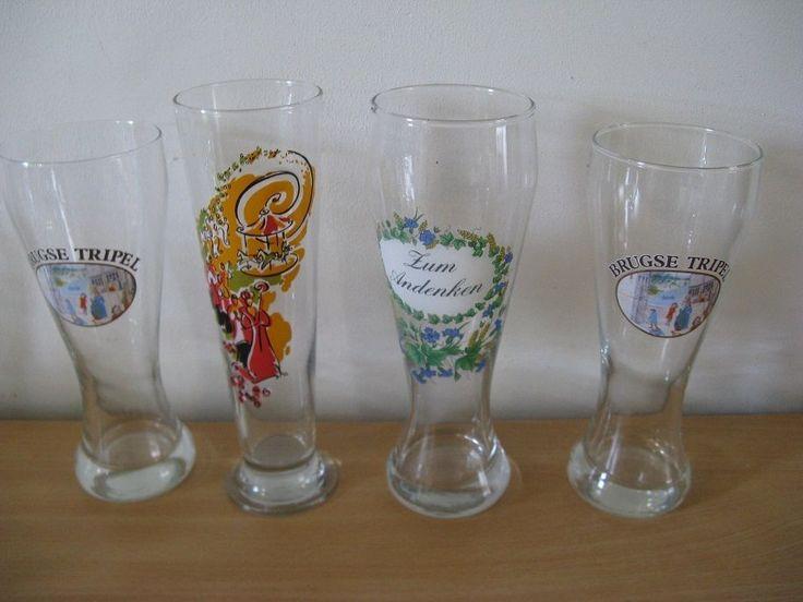 For Sale: Four original glasses, 2 x Brugse Tripel,1 x  Carnaval,1x Zum Andenken