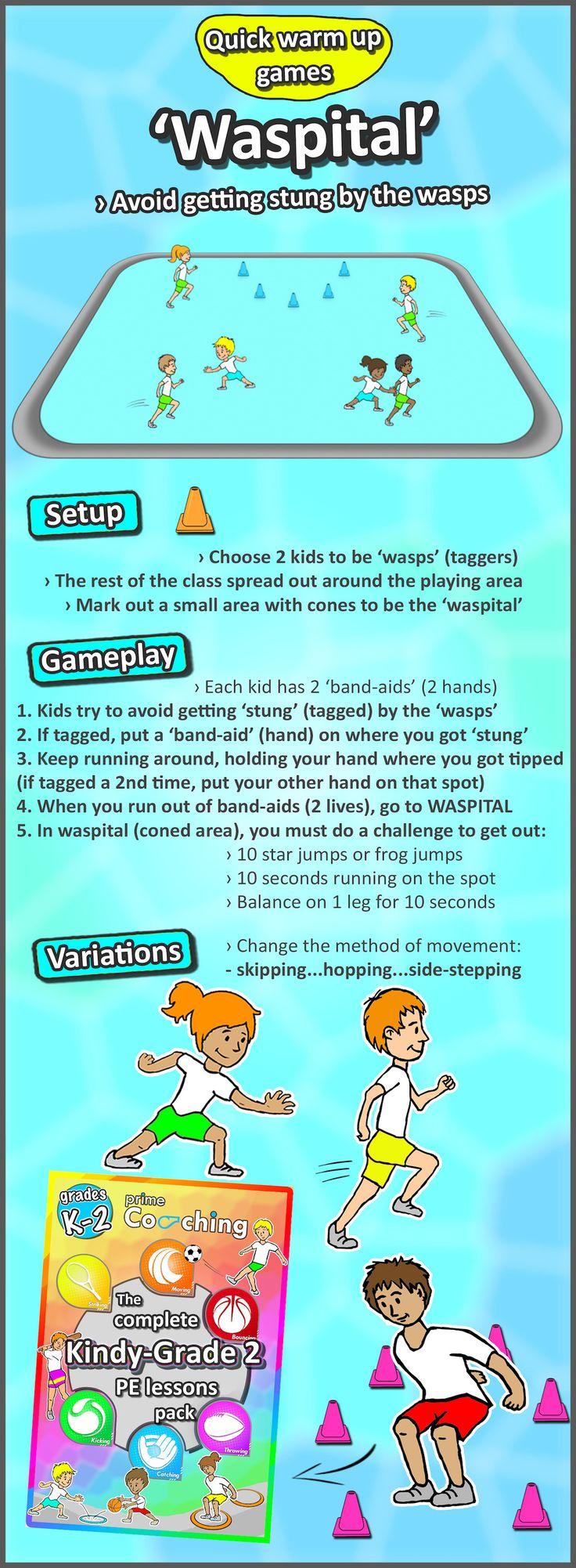 6 FREE Kindergarten - Grade 2 PE Sport lesson Tip & Tag ...