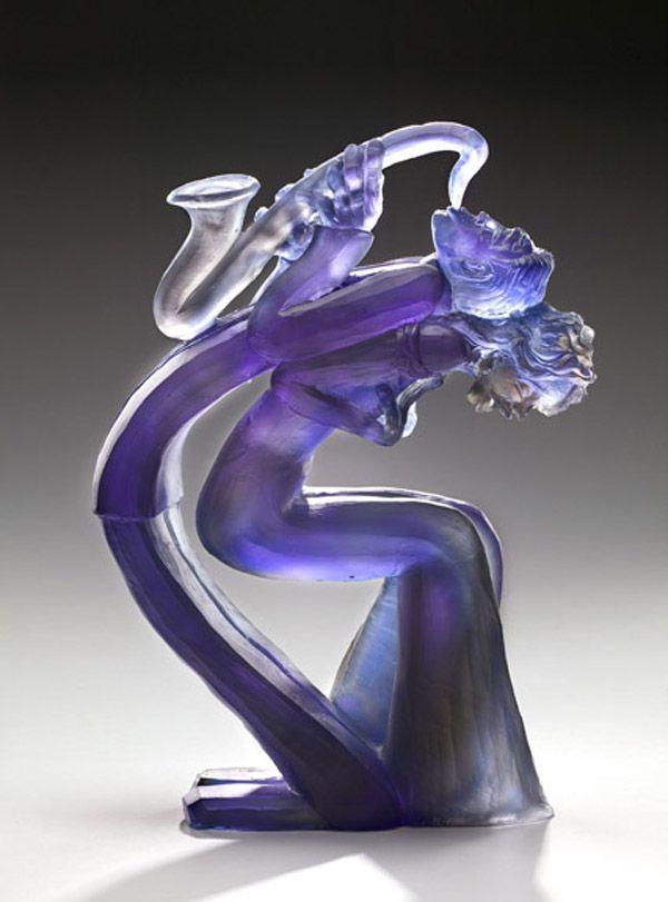 Love the laughing face ..the joy! Glass sculpture by Leah Wingfield and Steve Clements - ego-alterego.com...