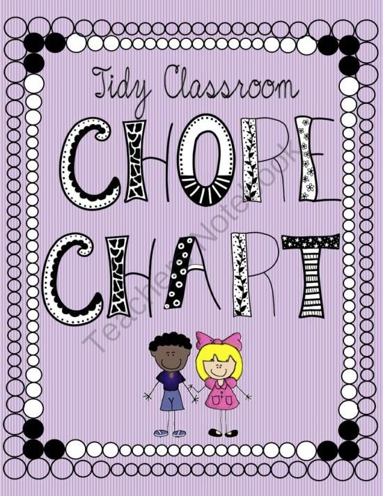 "Tidy Classroom Chore Chart  from Classy Gal Designs and Publishing on TeachersNotebook.com -  -  Want to keep your classroom tidy this year? Enlist your little helpers with the ""Tidy Classroom Chore Chart"""