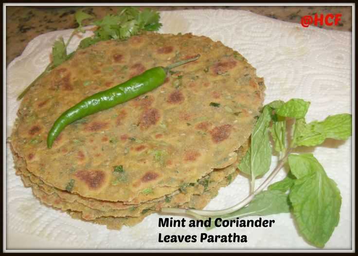 Mint and Coriander Parathas | Vegetarian recipes by Home Cook Food ...