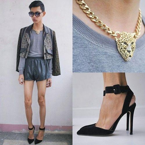 Fashioncookie Heels, Mint Sunglasses