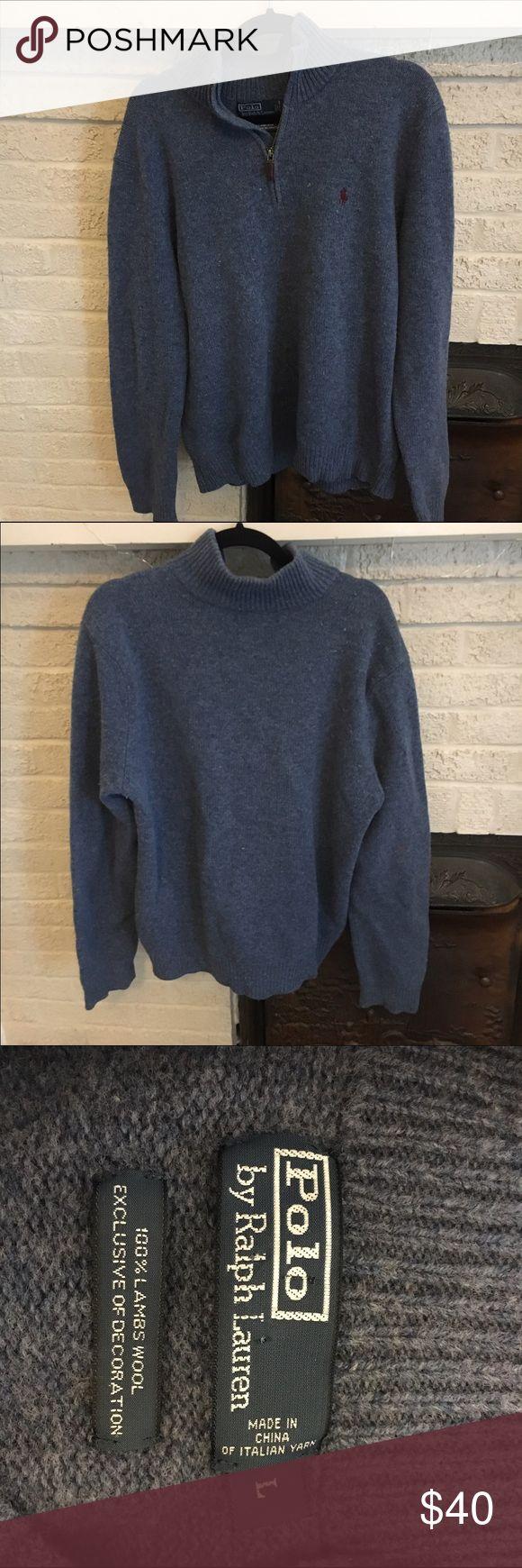 Polo Ralph Lauren Men's half Zip sweater Polo Ralph Lauren Men's half Zip sweater. Shale blue size L. Polo by Ralph Lauren Sweaters Zip Up