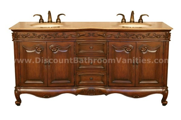 Silk Road Exclusive Antique Double Sink Vanity Hy 8034 72