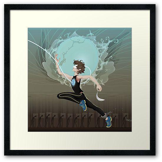 Superhero Speedster Illustration by Reality Kings | Bright White Framed Print Available in Small @redbubble  ---------------------------  #redbubble #sticker #superhero #speedster #comics #nerd #geek #cute #adorable #frame #print #framedprint #wallart  ---------------------------  https://www.redbubble.com/people/realitykings/works/26145511-realitykings-superhero-speedster?asc=u&p=framed-print&rel=carousel
