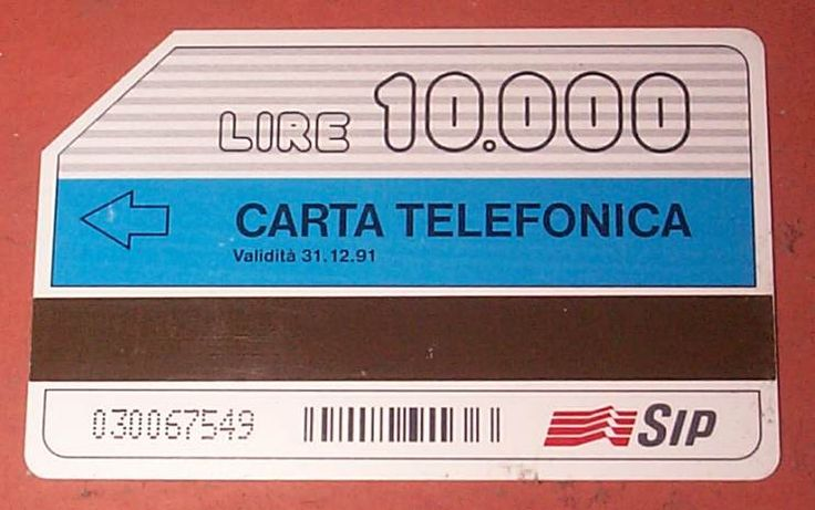 carta telefonicaa della sip