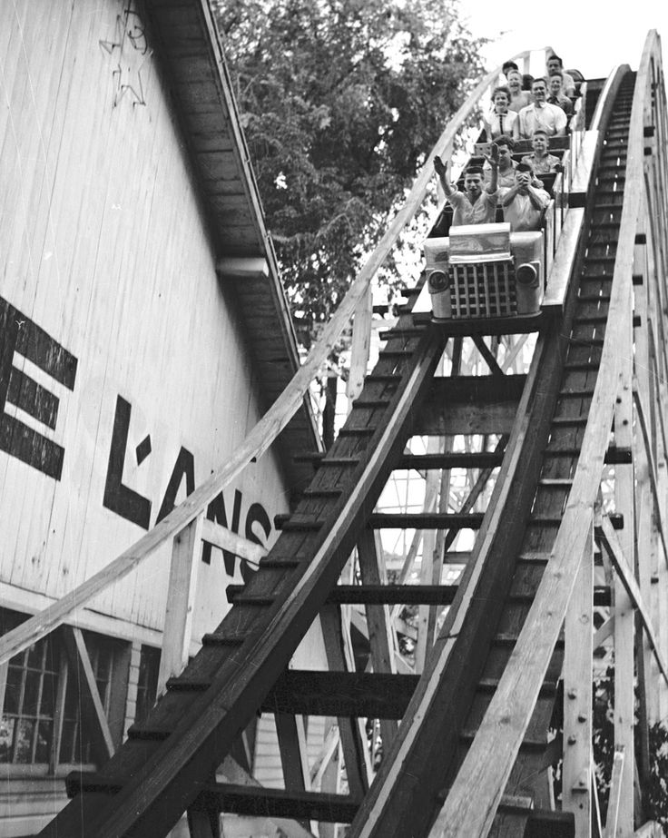 Lake Lansing in Haslett, MI. From 1934 until 1974, an amusement park operated near the lake and featured a giant wood roller coaster.
