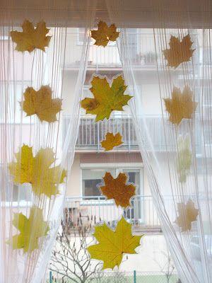 mama domowa: Jesienne okna dekorowanie :)