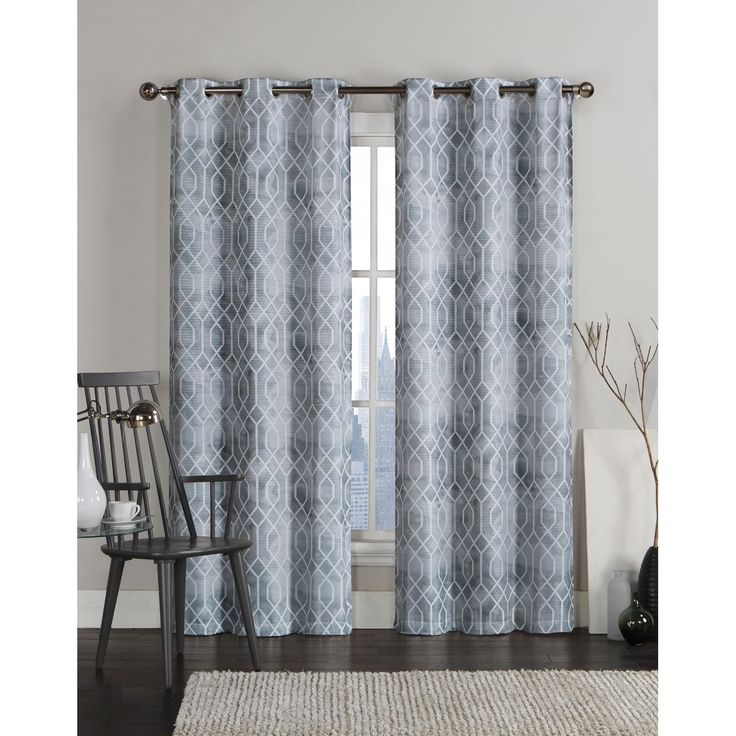 Victoria Classics Andreas Grommet Top 96-inch Curtain Panel Pair - Overstock Shopping - Great Deals on Victoria Classics Curtains