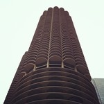 Really cool building outside state street pizza. #Chicago