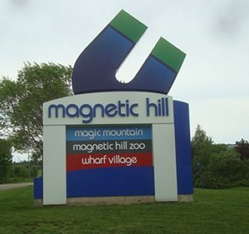 Magnetic Hill, New Brunswick.  This place was such a joke. I hadn't laughed that hard in a long time.