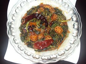 Kashmiri Food Recipes: Sochal-Nadir (Mallow and Lotus Root veg Kashmiri pandit recipe)