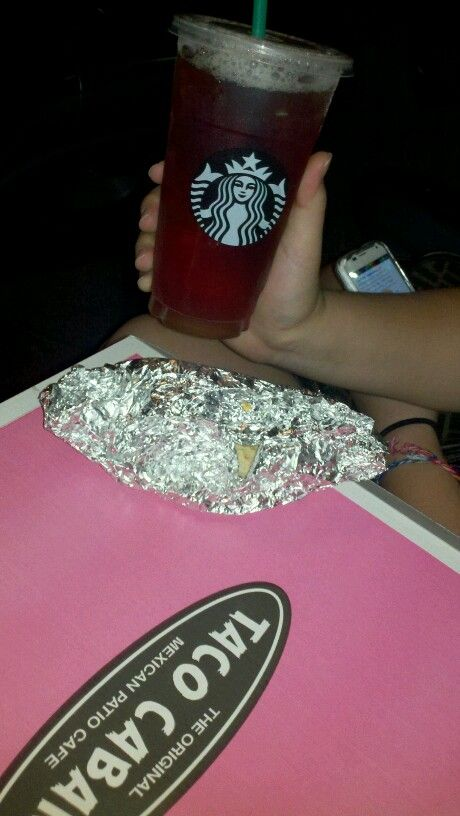 Best a.m. messy road trip breakfast-breakfast tacos from Taco Cabana n Sweet tea from Starbucks in Austin TX