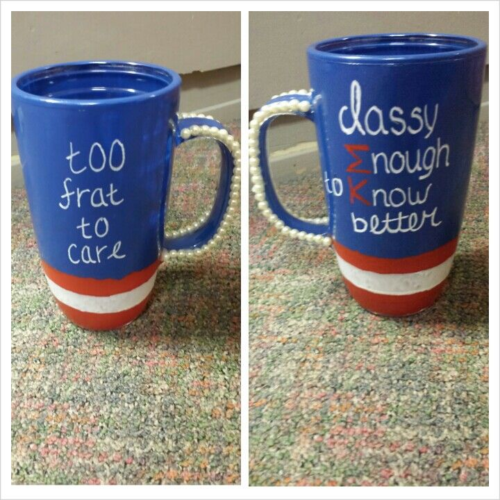 Sigma Kappa American diy cup craft
