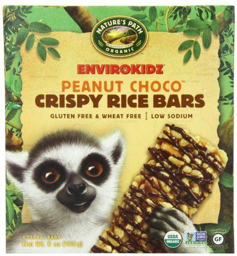 EnviroKidz Organic Lemur Peanut Choco Drizzle Crispy Rice Bar, 6-Count Bars, 6oz Boxes(Pack of 6) #deals
