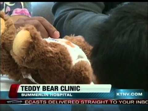 Elementary school kids enjoyed learning about the hospital at Summerlin Hospital's annual Teddy Bear Clinic featured on local KTNV Channel 13 Action News.