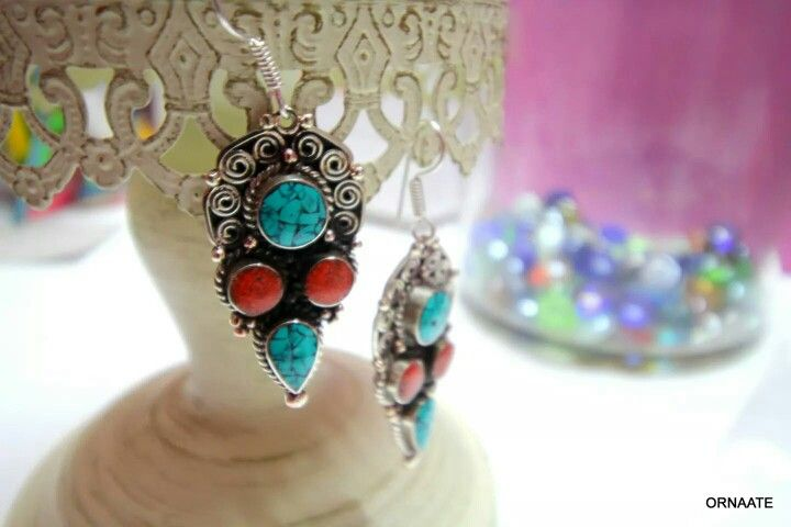 ₹ 650/- Find us @ www.facebook.com/ornaate.. Tibetan earring