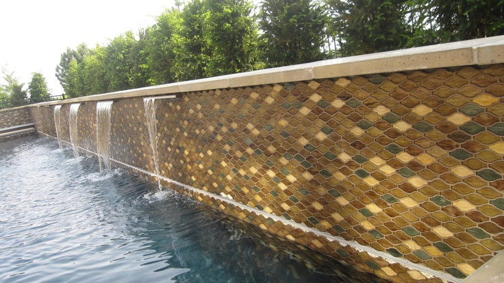 Hirsch Glass Tile in Pool